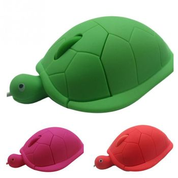 Cute Turtle Mouse Ergonomic Optical USB Wired Mice Funny Shape PC Computer Laptop Mouses 2