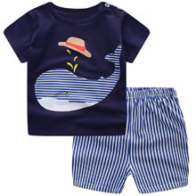 Summer Baby Short Suit Sleeve for Clothing Boys and Girls Cotton Underwear Suit for Children Two Clothes Sets for Baby Boys