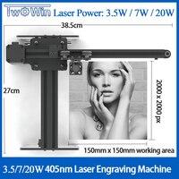 NEJE Master 3500mw 405nm Desktop CNC Laser Engraver DIY Engraving Carving Machine Laser Cutting Engraving Machine15x15cm