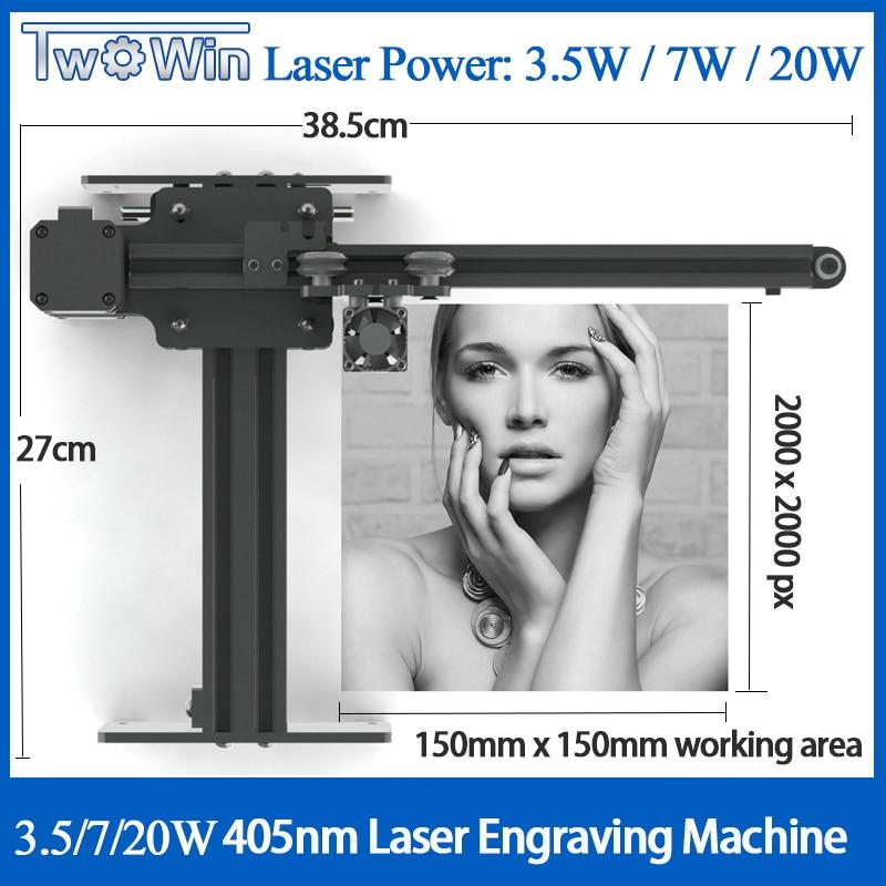 NEJE Mestre 3500mw 405nm Gravador De Mesa A Laser CNC DIY Carving Máquina de Gravura Gravura de Corte A Laser Machine15x15cm