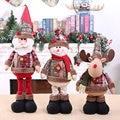 Снеговик кукла Счастливого Рождества Декор для дома стол 2020 Кукла рождественские украшения Санта Клаус Лось Рождественский подарок с новы...