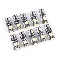 10 pces 12v branco luz da placa de licença do carro 1w led estacionamento lâmpada tronco turn signal 6000 k