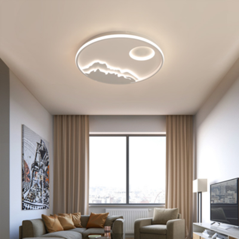 New Arrival Round Dimmable Led Chandelier For Living Room Bedroom Study Room White Color Modern led Chandelier Free Shipping Ceiling Lights     - title=