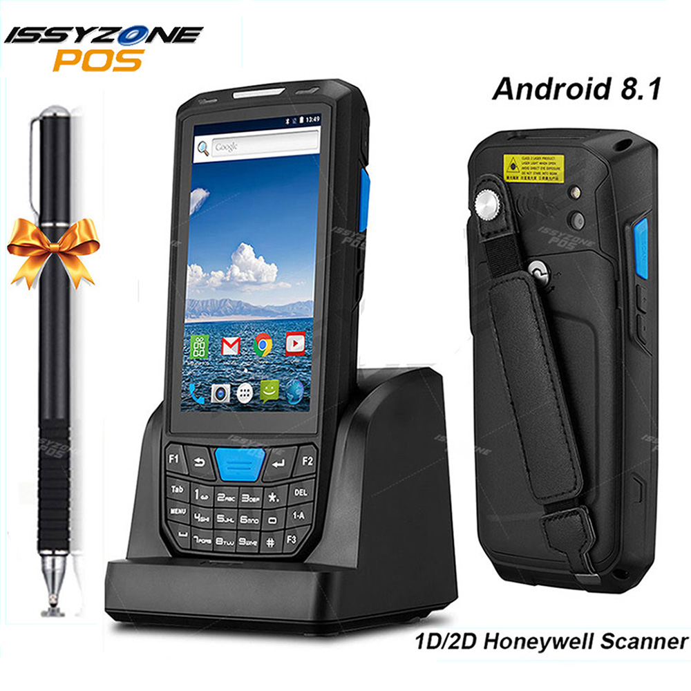 IssyzonePOS Handheld PDA Android 8 1 Rugged POS Terminal 1D 2D Barcode Scanner WiFi 4G Bluetooth GPS PDA Bar codes Reader