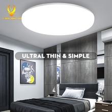 Светодиодный потолочный светильник с датчиком движения, потолочный светильник 220 В, светодиодный круглый светильник для кухни, поверхностный ночной Светильник для внутреннего освещения