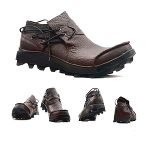Image 3 - Echtes Leder Männer schuhe Casual Classic Boat Schuhe Handgemachte Fahr Schuhe Bequeme Turnschuhe Ankle Stiefel Müßiggänger Männer mokassin