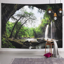 Tapestries Wall-Hanging Wild Home-Decor Natural Large-Size Modern And Waterfall Landscape