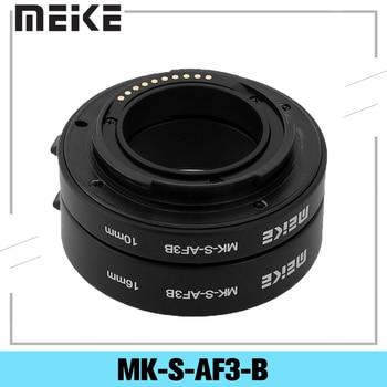 Meike MK-S-AF3-B Plastic Extension Tube Close Shot Adapter Ring Lens for Auto Focus Sony NEX Micro DSLR 10mm 16mm E-Mount Camera huanor hn 668c auto macro extension tube set for canon dslr black
