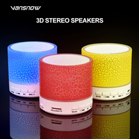 led music New Bluetooth Speaker Mini LED Music Audio TF USB HD 3D Stereo Sound Portable Speaker for IPhone Xiaomi Computer Column (2)