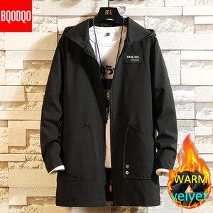 Image 1 - Warm ฤดูหนาวผู้ชายเสื้อทหารสไตล์ Casual Windbreaker สีดำ Hip Hop Streetwear ฤดูใบไม้ร่วงขนาดใหญ่ชายเสื้อ