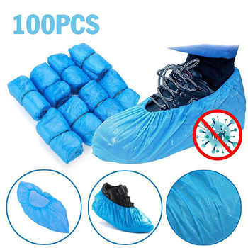 HOT!!100 Pcs/bag Waterproof Boot Covers Portable Disposable Overshoe Shoe Covers Protectors Hospitality Food industry Shoe Cover