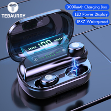 3000mAh TWS Bluetooth Earphone 5.0 9D Stereo Wireless Headphones Touch Control IPX7 Waterproof Wireless Earphones Power Bank