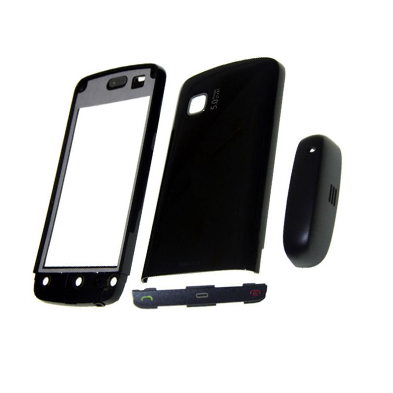 For <font><b>Nokia</b></font> <font><b>C5</b></font>-03 <font><b>Housing</b></font> Front Faceplate Frame Cover Case+Back cover/battery door cover+Keypad image