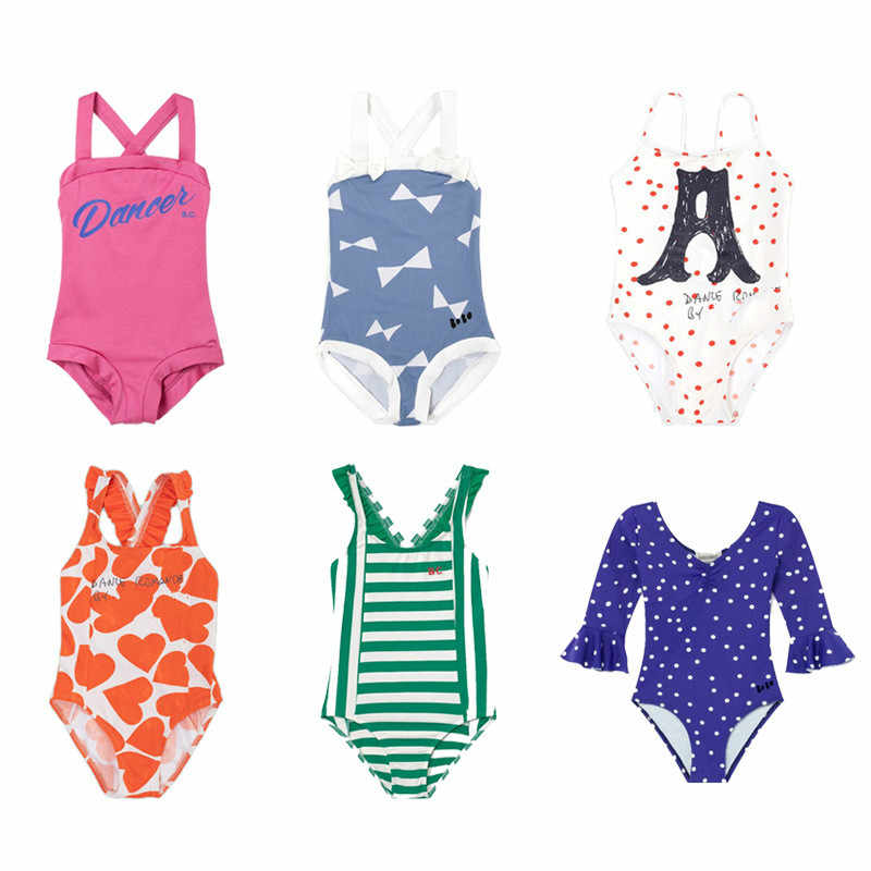 Pre-sale Children's Swimwear 2020 Summer New BC Boys Swimwear Girls Children's Straps Cute Printed Swimwear One-piece Swimsuit