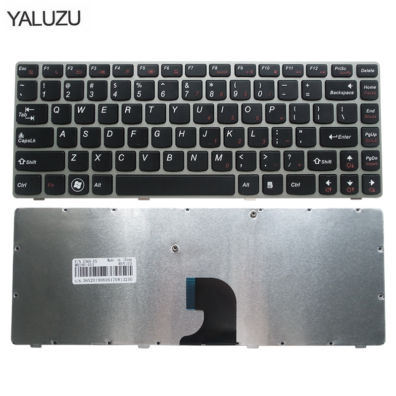 NEW US Laptop Keyboard FOR Lenovo Z360 Z360A Z360G Z360P G360 G360A Brown With Frame Keyboard