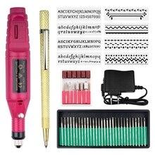 Elettrico Micro Engraver Penna Mini Fai Da Te Vibro Strumento di Incisione Kit Per Il Metallo di Vetro di Ceramica di Plastica di Monili di Legno Con 6 lucidatura Testa