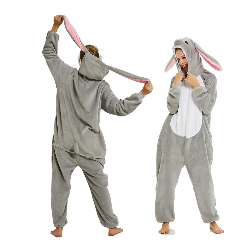 New Design Unicorn Pajamas Kigurumi Adults Animal Onesies For Women Pajamas Suit Cartoon Unicorn Men Winter Flannel Sleepwear
