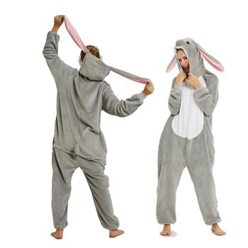 New Design Unicorn Pajamas Kigurumi Adults Animal Onesies for Women Suit Cartoon Men Winter Flannel Sleepwear