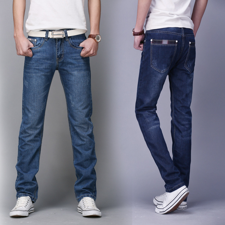 2017 Spring And Summer MEN'S Jeans Men Slim Fit Straight-Leg Trousers MEN'S Trousers Men'S Wear Agent