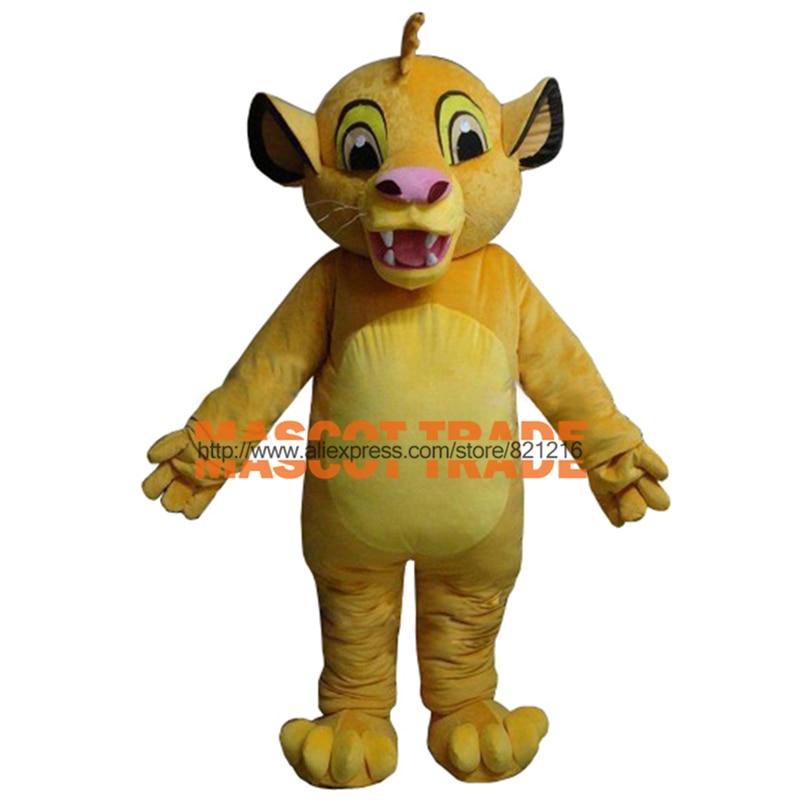 Masoct Lion King Simba Mascot Costume Custom Fancy Costume Anime Cosplay Kits  for Halloween party event