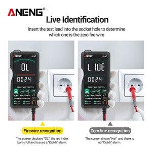 ANENG 618C мультиметр Цифровой мультиметр мини тестер умный мультиметры напряжения сенсорный экран DC аналоговый бар истинный среднеквадратичн...