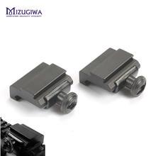 2 pçs escopo de montagem 20mm a 11mm weaver picatinny para dovetail trilho adaptador base montagem plana superior ferroviário pistola airsoft caça
