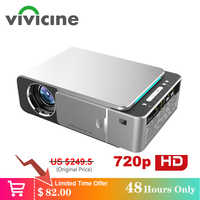VIVICINE 1280x720p Portable HD Projector,Option Android 7.1 HDMI USB 1080p Home Theater Proyector WIFI Mini Led Beamer