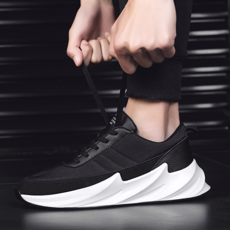 Damyuan 2020 New Fashion Men Flyweather Comfortable Breathable Non-leather Casual Light Running Sport Jogging Shark Bottom Shoes