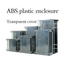 Plastic Junction Box ABS Din Rail Enclosures Transparent Color Housing Case for Electronics Terminal Block