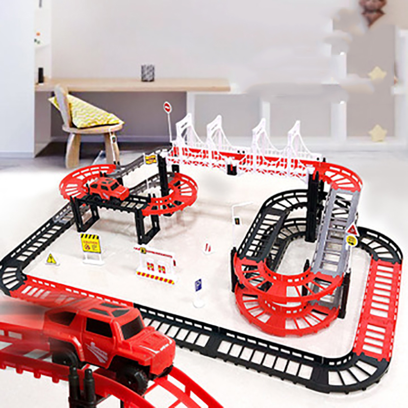 Children's Toys Electric Rail Car Track Racing Science And Education Educational Toy For Kids Boys Girls Christmas Gifts