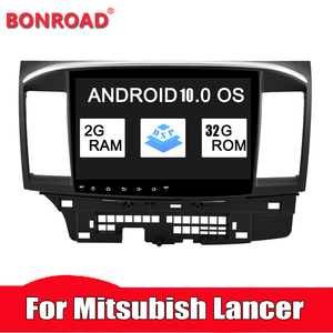 Bonroad 2 din android10..0 Car Radio Multimedia Player For Mitsubishi lancer x 2010-2015 stereo receiver GPS Navigation Video(China)