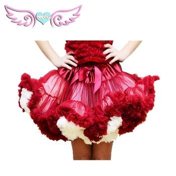 Moda Fluffy Chiffon Pettiskirts falda tutú para fiesta falda tutú de baile mujer Lolita enagua 1pc envío gratis 1-18 años