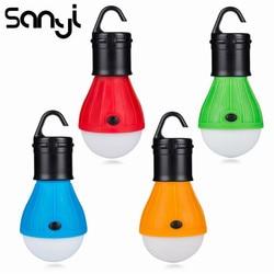 Mini portátil iluminação lanterna tenda luz led lâmpada de emergência à prova dwaterproof água pendurado gancho lanterna acampamento luz uso 3 * aaa