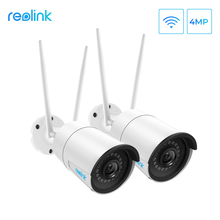 Reolink cámara wifi de 2,4G/5Ghz, visión nocturna infrarroja Onvif de 4MP, impermeable IP66, RLC 410W de vigilancia para interiores y exteriores, 2 unidades