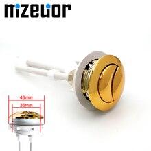 Двойной смывной бак для унитаза золотистого цвета кнопки круглой формы кнопки для унитаза аксессуары для ванной комнаты 38 мм
