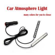 Car LED Decorative Cigarette lighter Auto Interior  Atmosphere Lamp Single color Controlled Lamp Car Foot Light Ambient Lamp