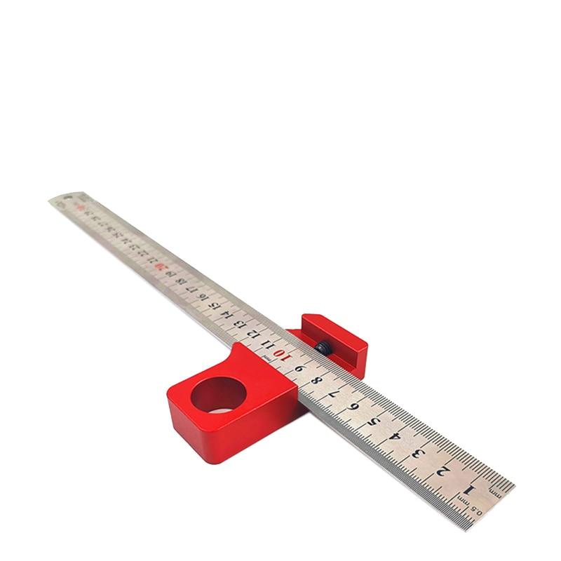 régua de aço localizador régua ajustável bloco