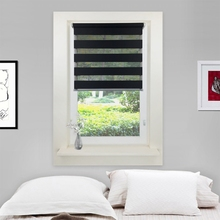 Easy Fix Zebra Roller Blind Day Night Blinds Curtains with Install Accessories L5YE