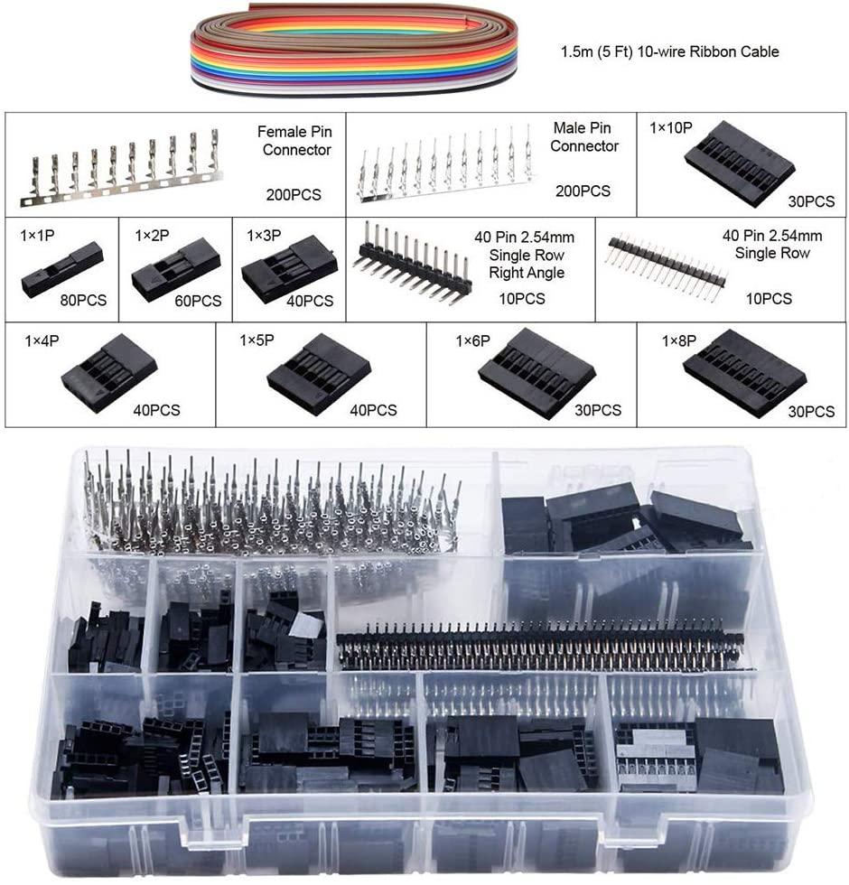 Hot DealsSN-28B 0.1-1mm² Crimping pliers tool set-1550pcs 2.54mm Dupont connectors and crimp