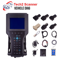 For GM Tech2 Scanner with 32MB Software Card Full Set For SAAB/OPEL/SUZUKI/Holden/ISUZU OEM Tech2 Diagnostic Tool for 12V Car