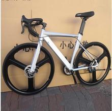 14 prędkości 700C rower szosowy 2016 nowa jazda na rowerze rower szosowy bicicleta mężczyzna i kobieta rower hamulce tarczowe tanie tanio kalosse Unisex STEEL Aluminium 150-200 cm 17 5 kg Podwójne hamulce tarczowe 0 1 m3 Koralik pedału 160 kg 18 kg Wiosna widelec oleju (wiosna odporność olej tłumienia)