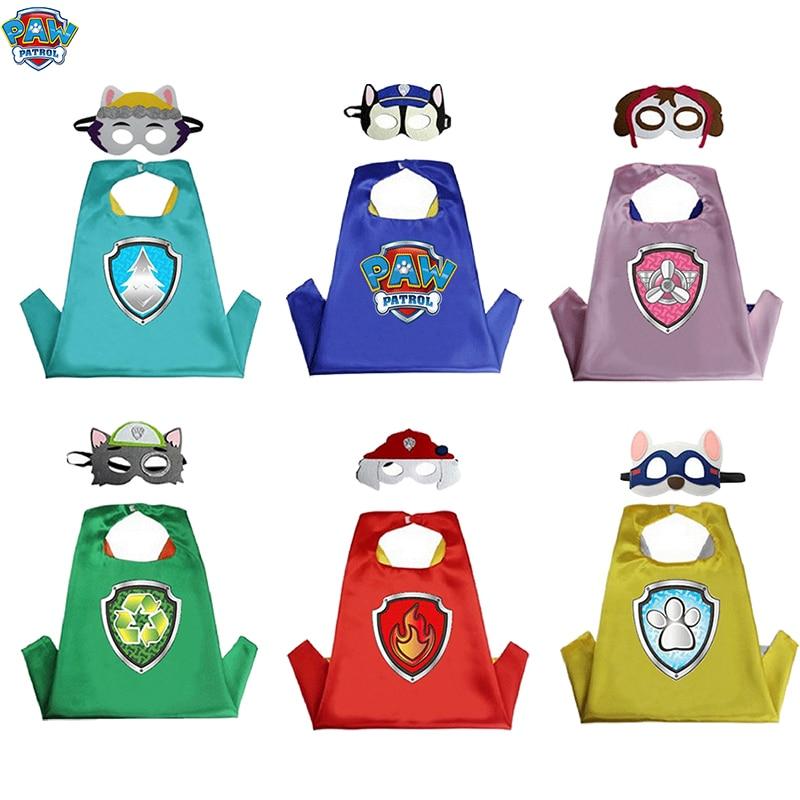 Anime Paw Patrol Cloak Mask Toy Set Rock Marshall Kai Event Performance Costume Cosplay Kids Holiday Gift