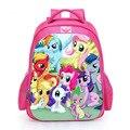 Розовый школьный ранец «Мой маленький пони»  16 дюймов  школьная сумка единорога для девочек-подростков  повседневный дорожный рюкзак  дневн...