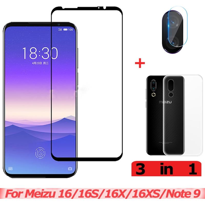 3 in 1 Tempered Glass for Meizu Note 9 16XS Camera Glass Meizu 16 S 16X