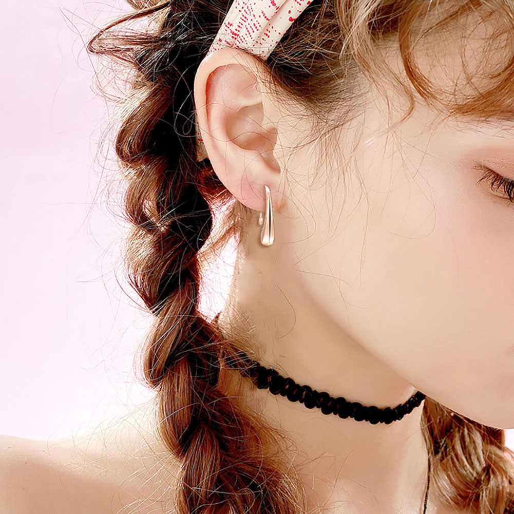 925 Perhiasan Perak Berlapis Perhiasan Set Murah Pesta Pengantin Set fashion Perak Waterdrop Kalung Gelang Anting-Anting Cincin Empat Potong