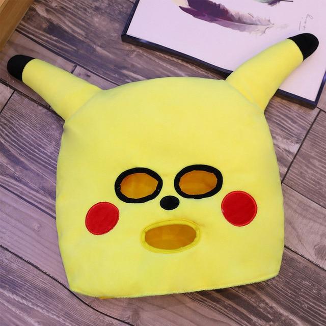 Cute Pikachu Plush Hat Funny Halloween costume cap cartoon cosplay hat clown dressing up holiday decor gifts