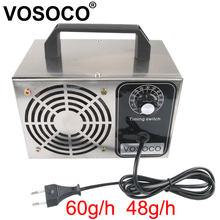 60 g/h 48 g/h gerador de ozônio máquina de sincronismo purificador ar mais limpo desinfecção esterilização limpeza formaldeído 220v 110v