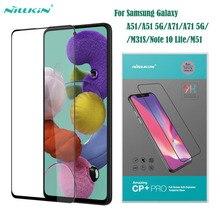 Nillkin Película protectora de pantalla completa para Samsung Galaxy, película protectora de cristal templado para Galaxy A51, A71, 5G, M31S, M51, Note 10 Lite, CP + PRO, antiexplosión, 9H