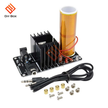 Mini Music Tesla Coil Plasma Speaker Amplifier Board 15W DC 15-24V Wireless Transmission DIY Coil Kit with 3.5mm AUX Jack 500w high power tesla arc generator ac 220 v music plasma speaker electronic component speaker diy mini tesla personalized gift
