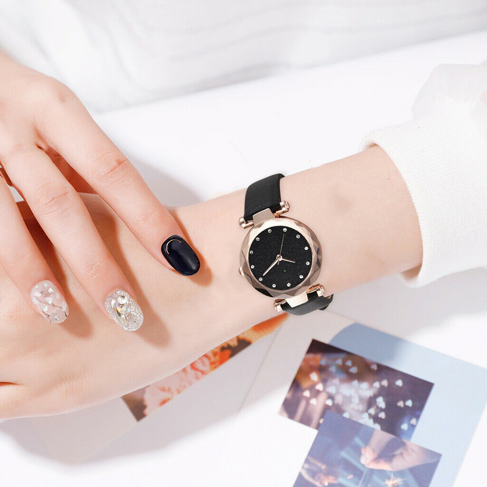 Watch Waterproof Men Women Lovers Small Casual New Fashion Korean Dial PU Pu-Belt Atmosphere